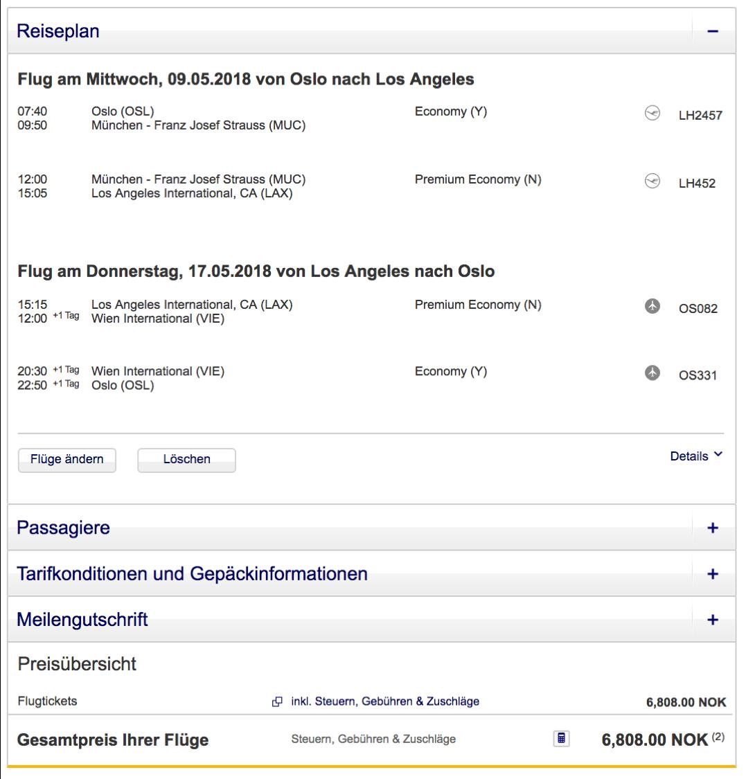 Günstig Premium Economy Class nach Los Angeles fliegen