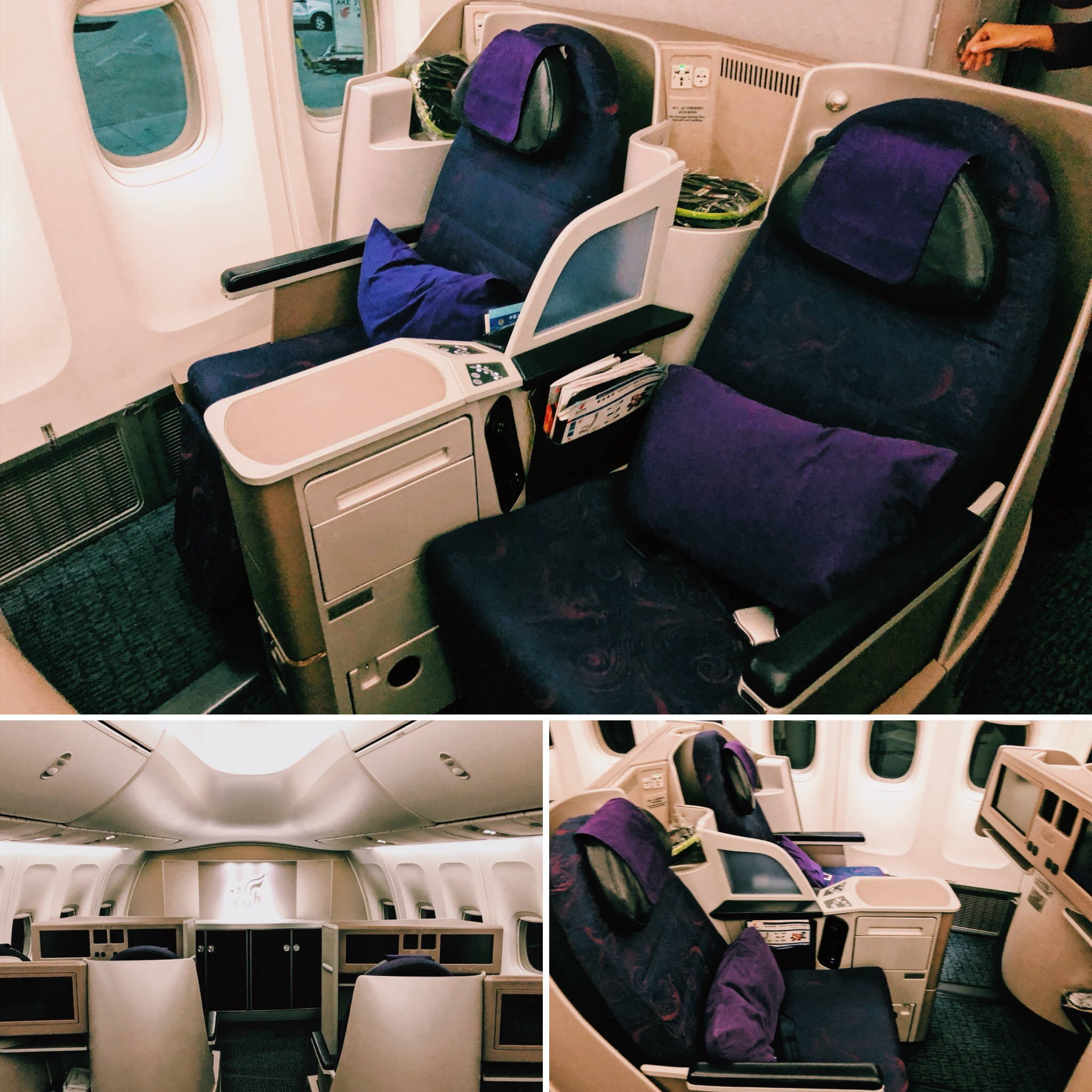 Air China Business Class Sitz
