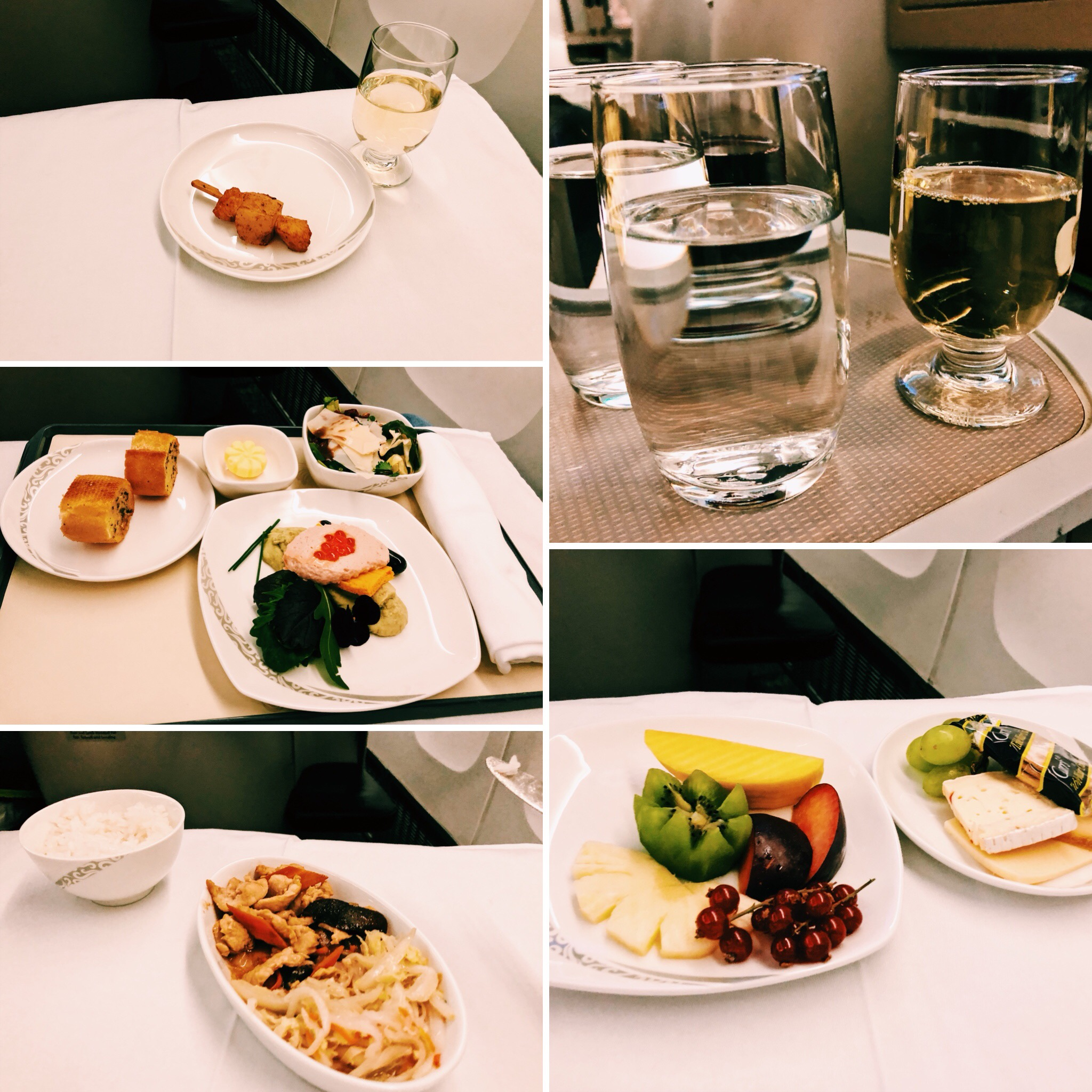 Air China Business Class Dinner