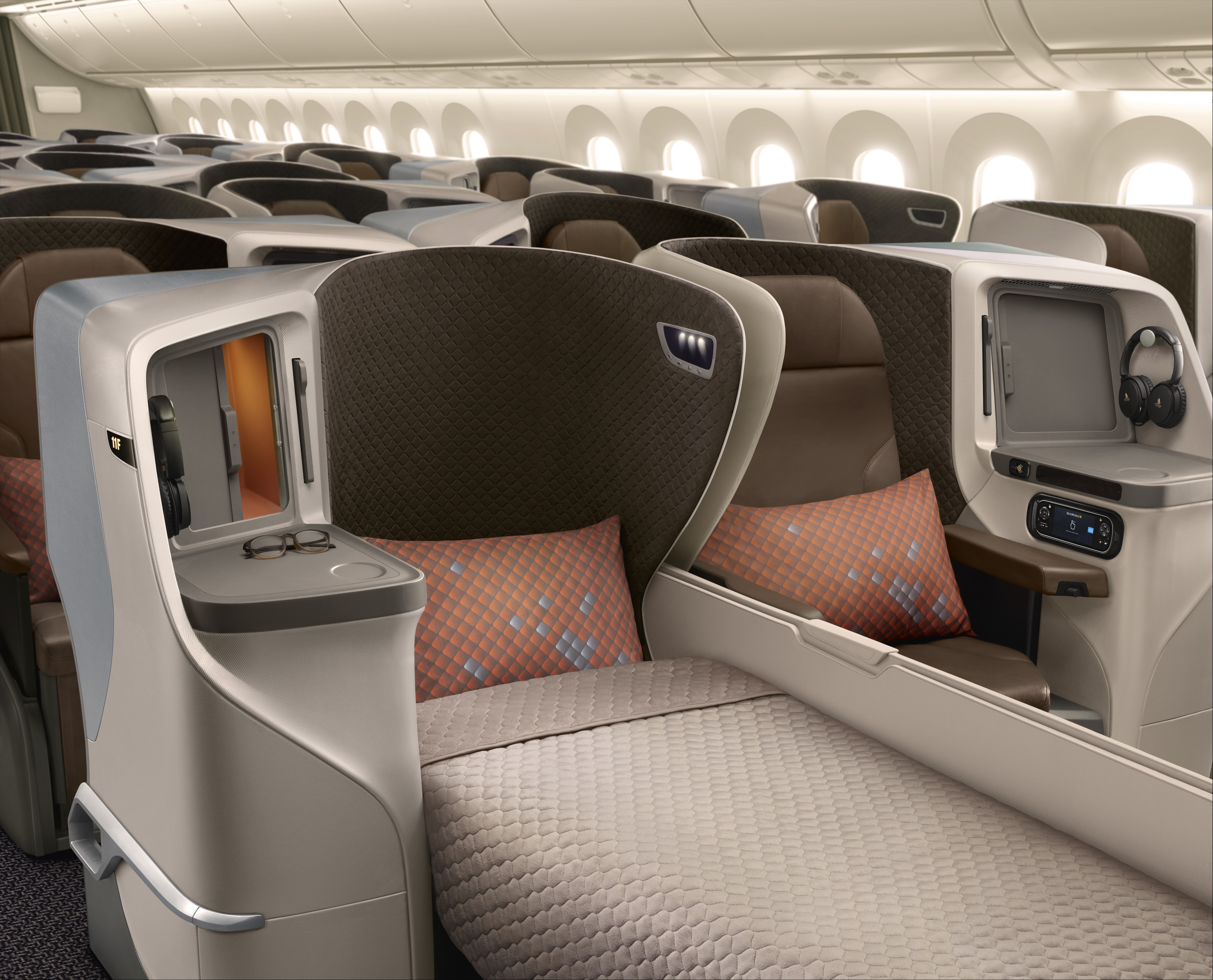 Singapore Airlines Boeing 787-10 Business Class