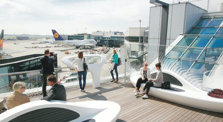 Neue Dachterrasse am Frankfurt Airport