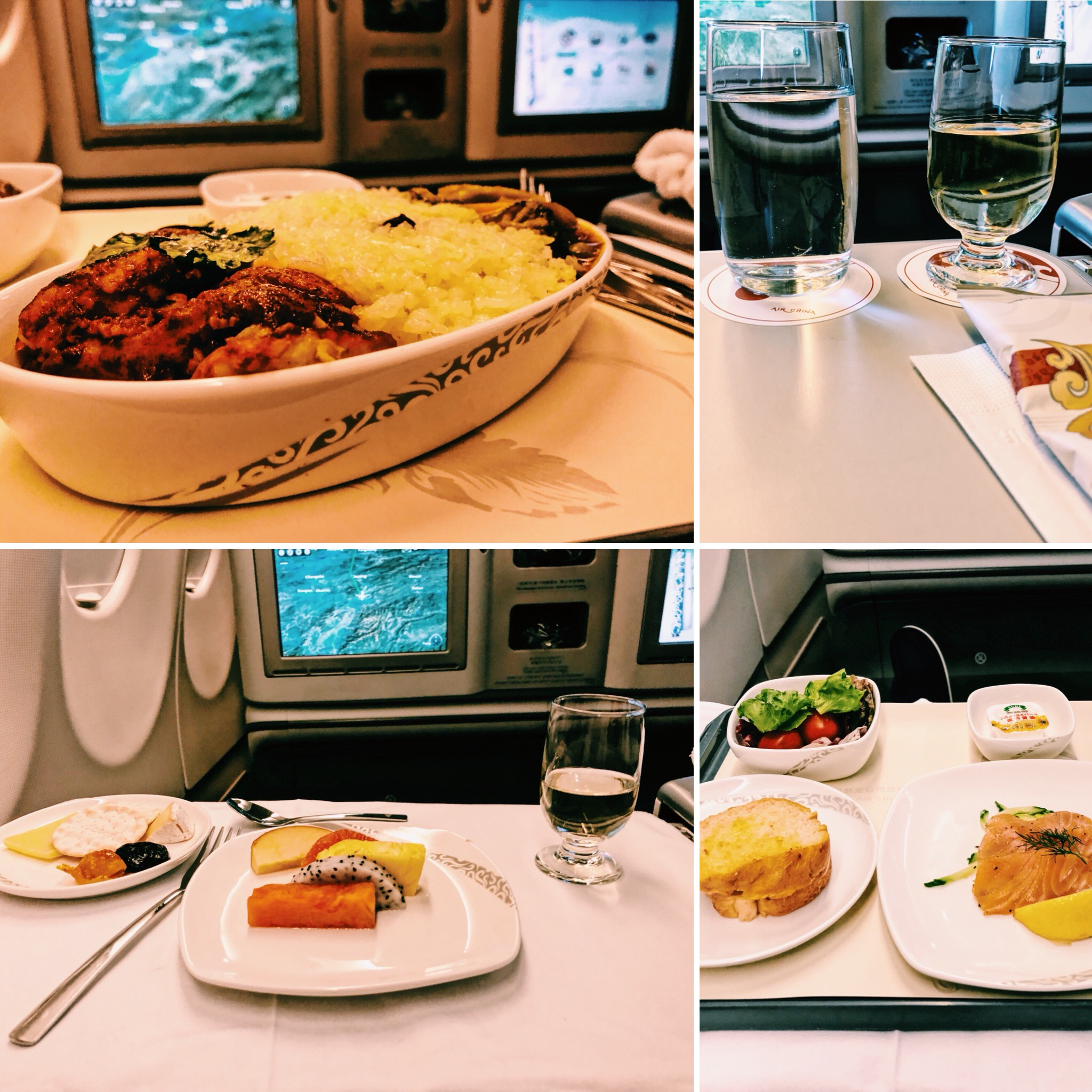Air China Business Class A330 Catering