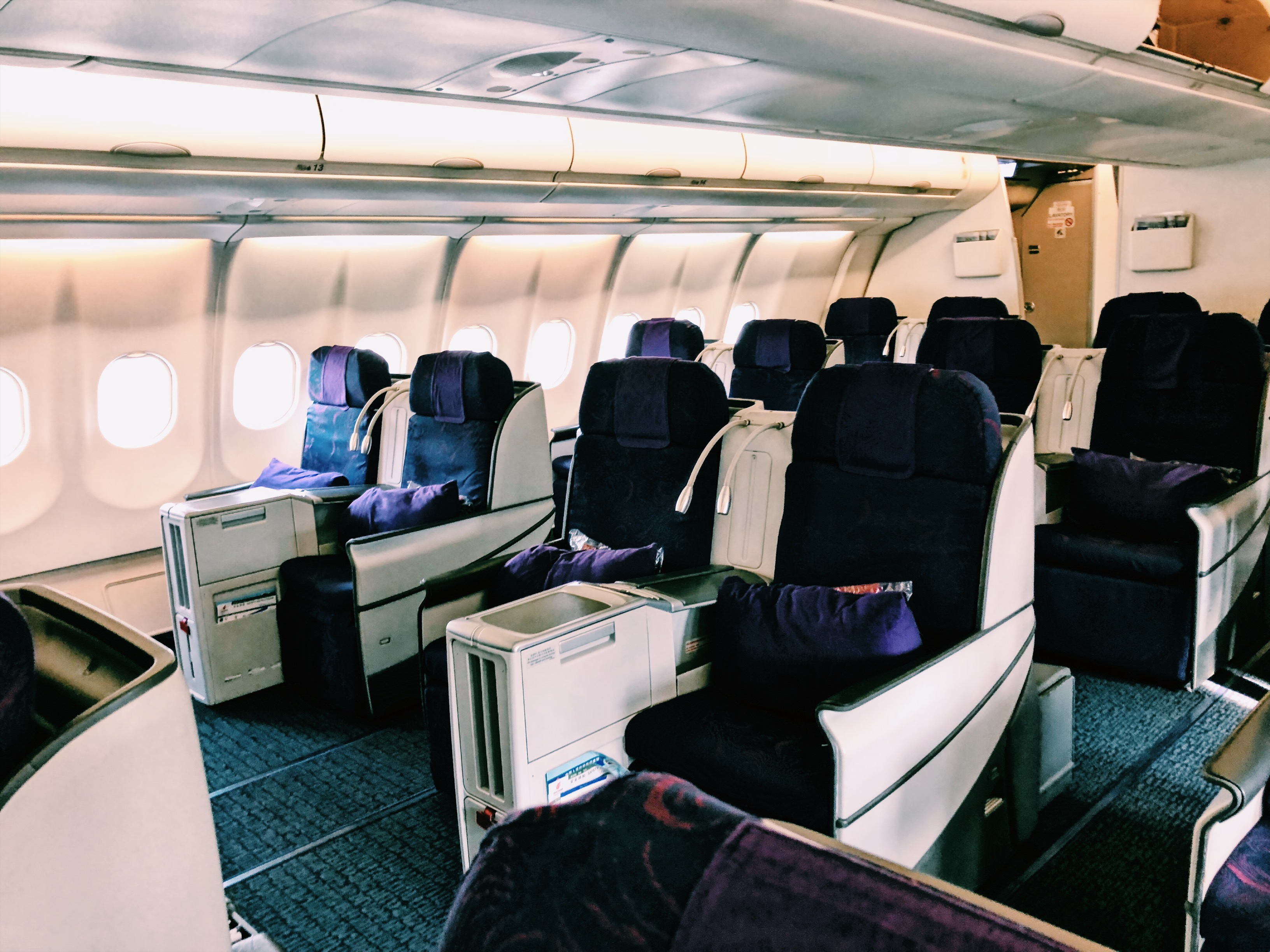 Air China Business Class A330 Kabine