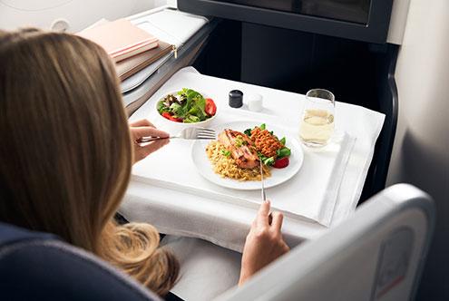 Air Canada Signature Business Class Dining