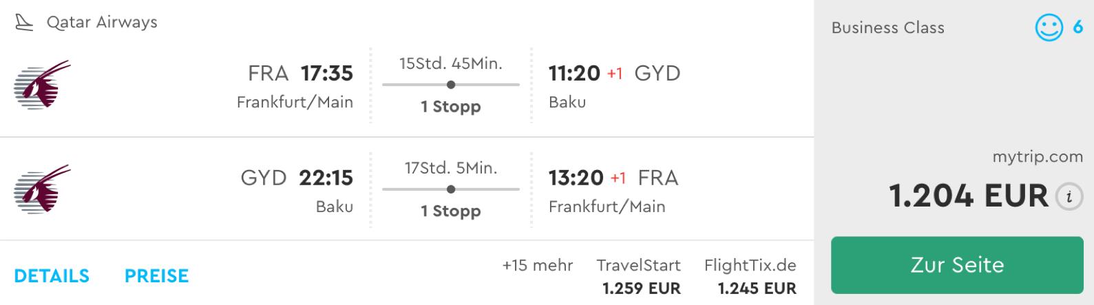 Qatar Airways QSuite günstig fliegen