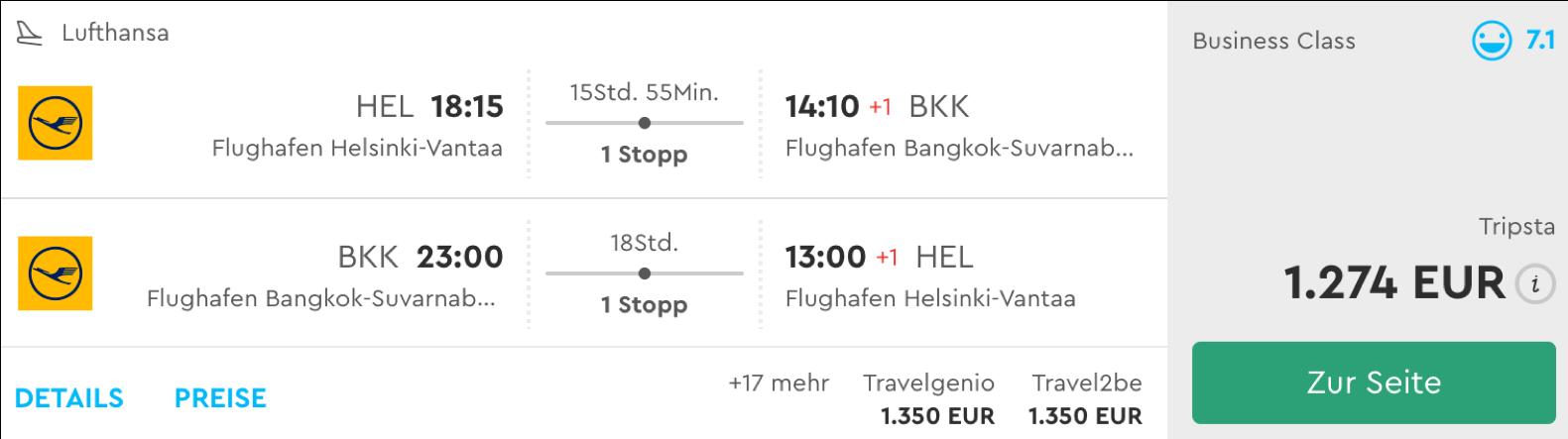 Günstiger Lufthansa business Class sale