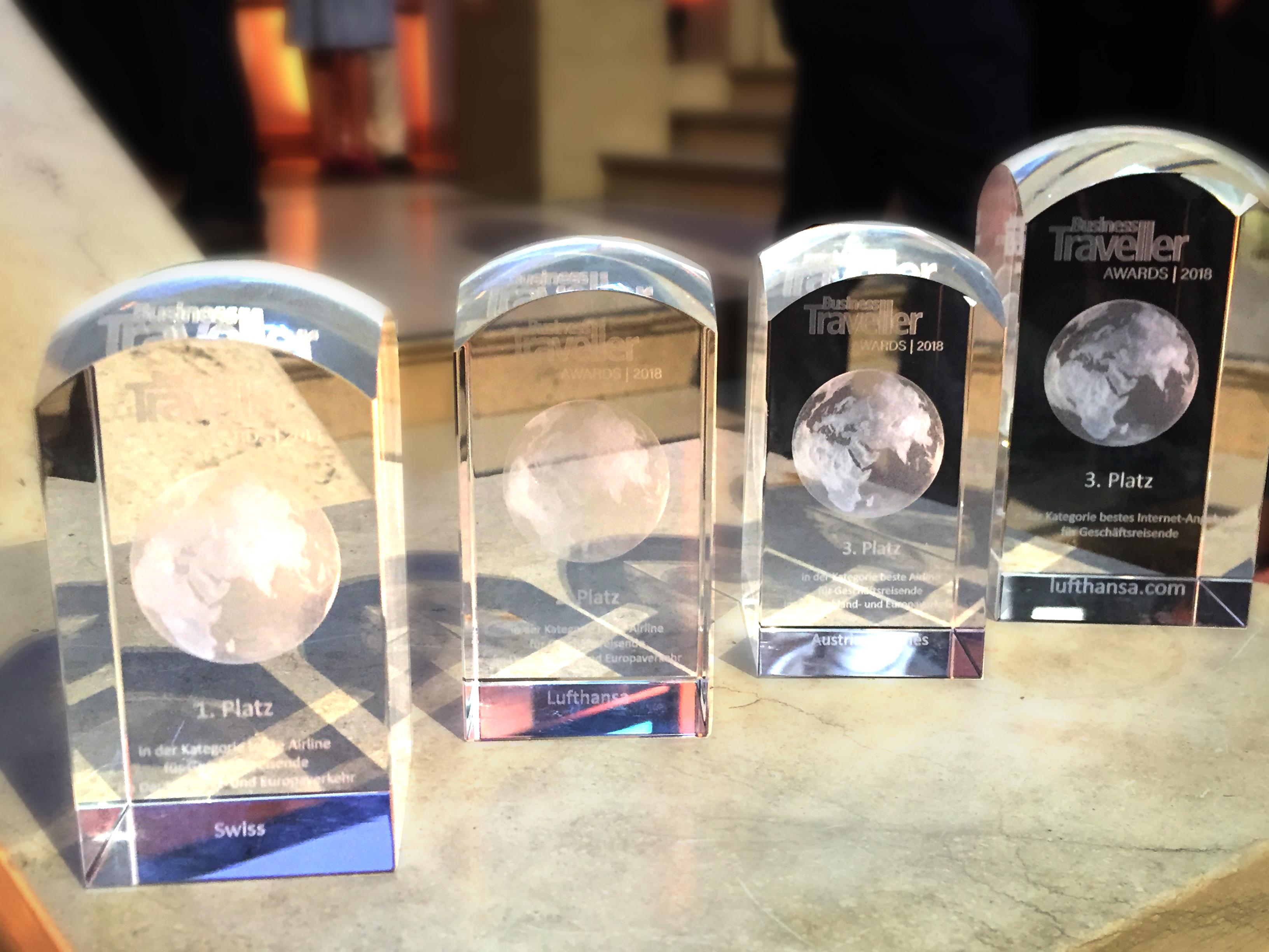 Lufthansa Group gewinnt bei den Business Traveller Awards