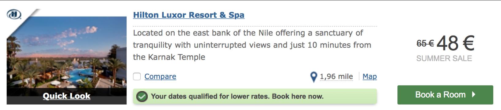 das billigste Hilton Hotel der Welt