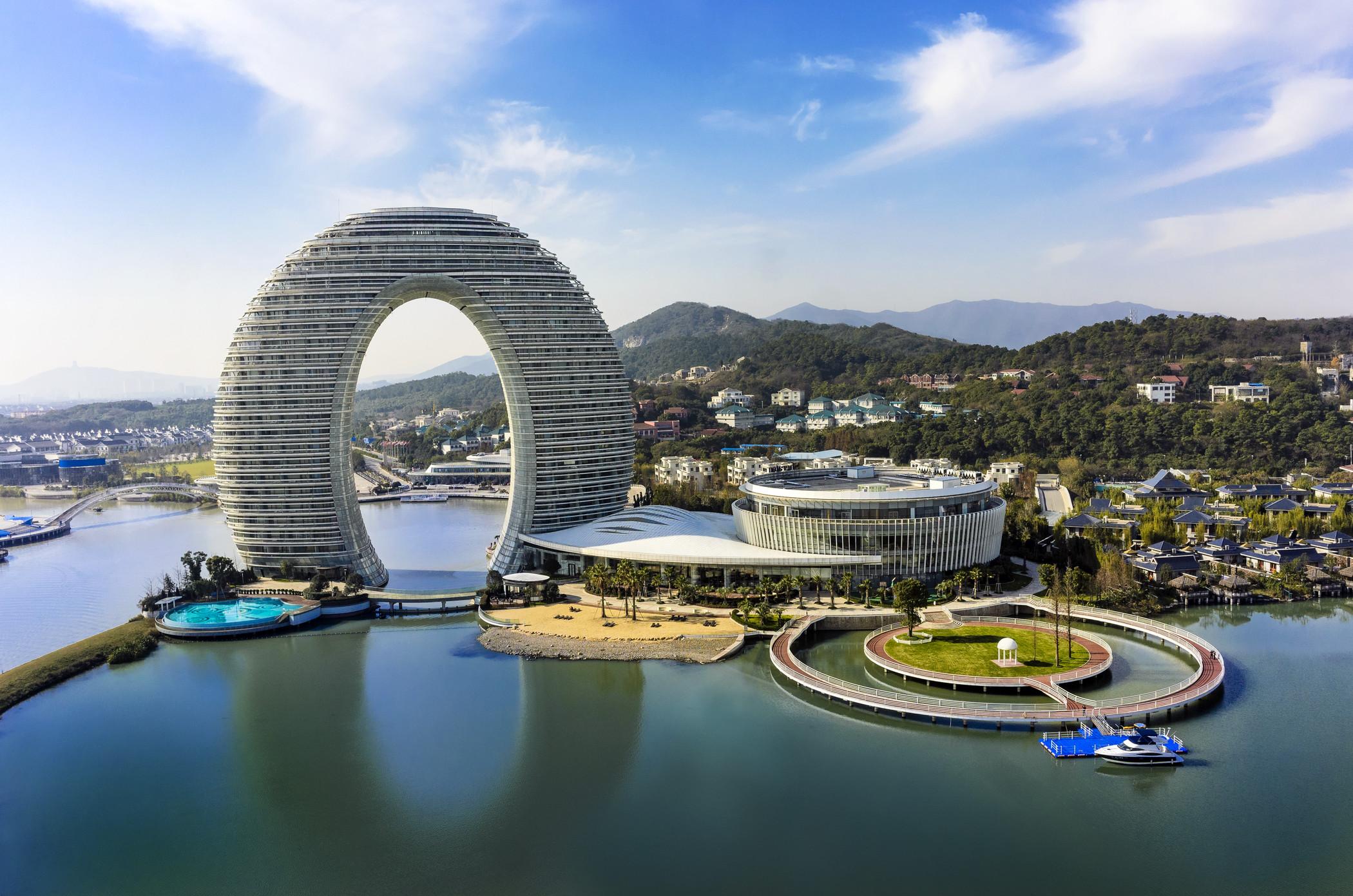 5 runde Hotels weltweit