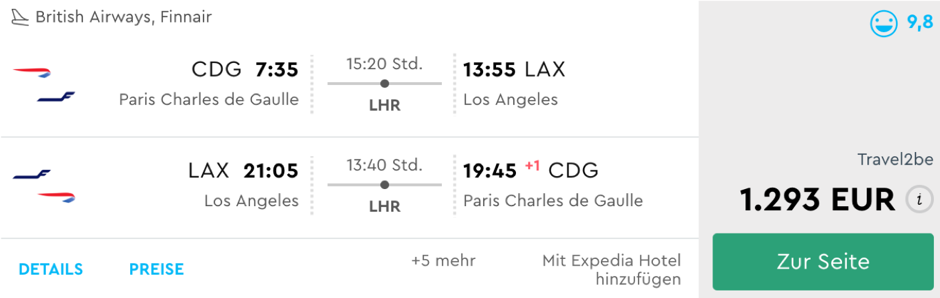 Günstige Business Class Flüge nach Los angeles