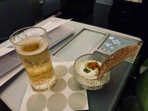 Finnair Business Class A330 Dinner