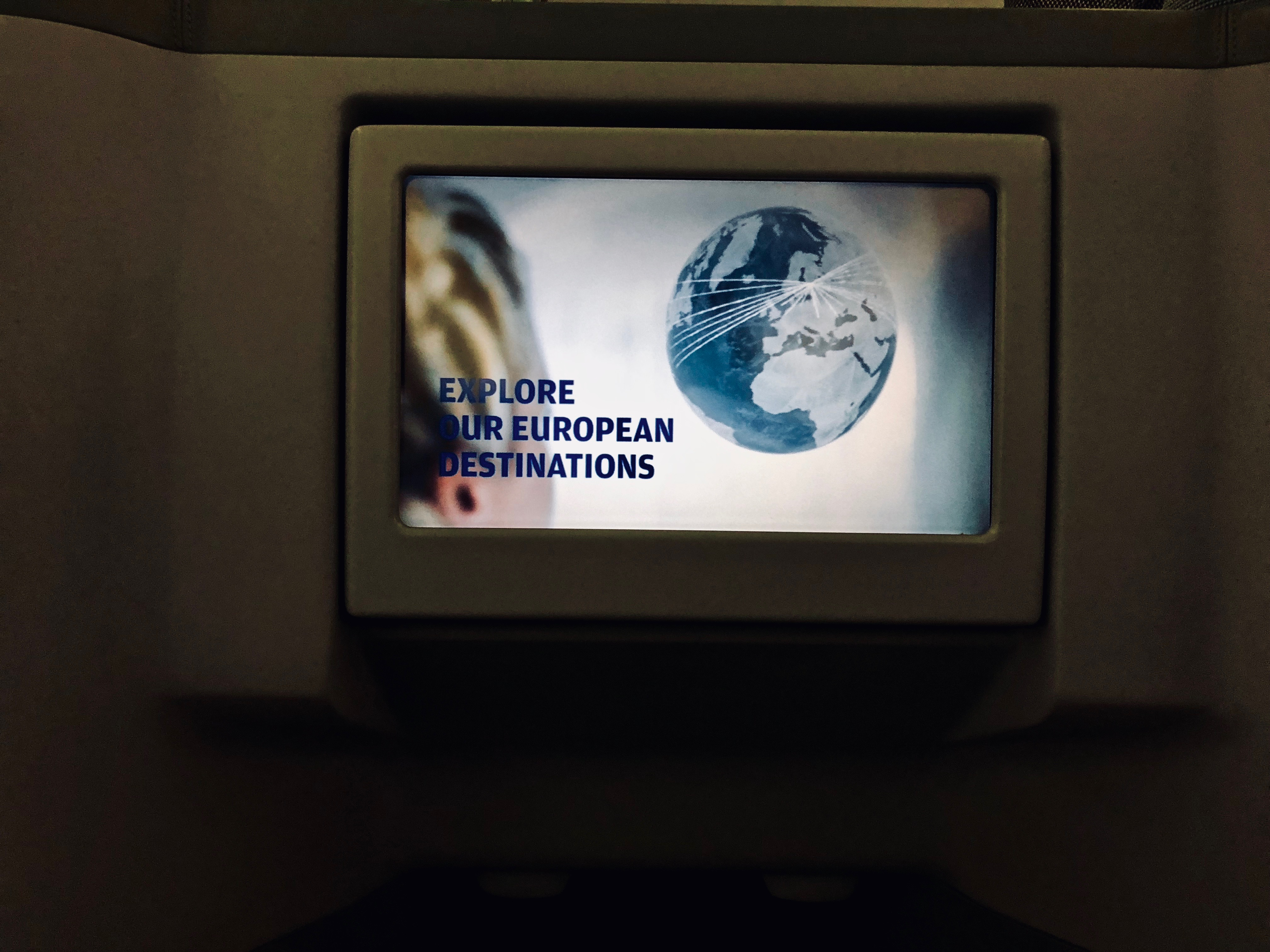 Finnair Business Class A330 screen