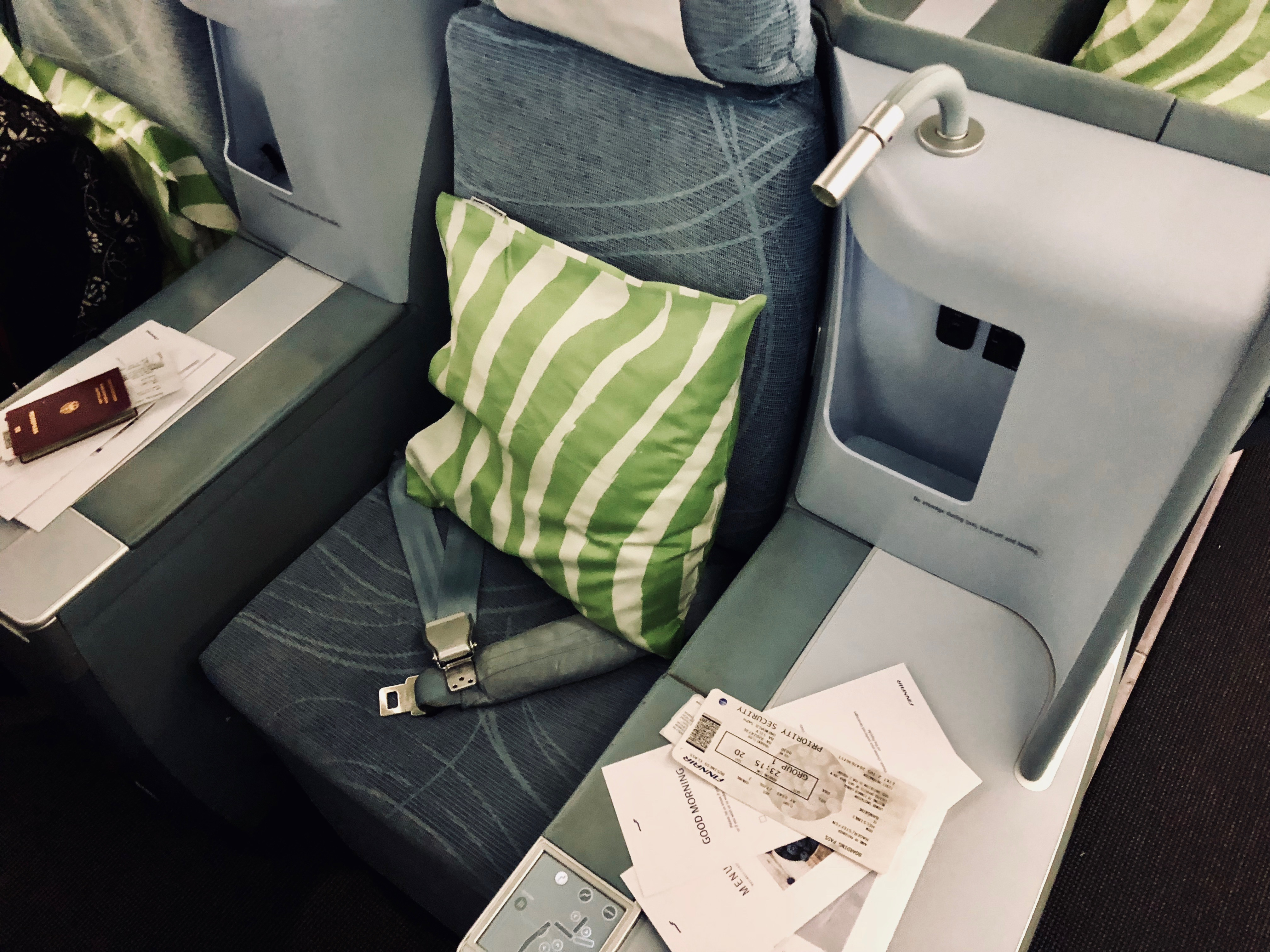 Finnair Business Class A330 seat
