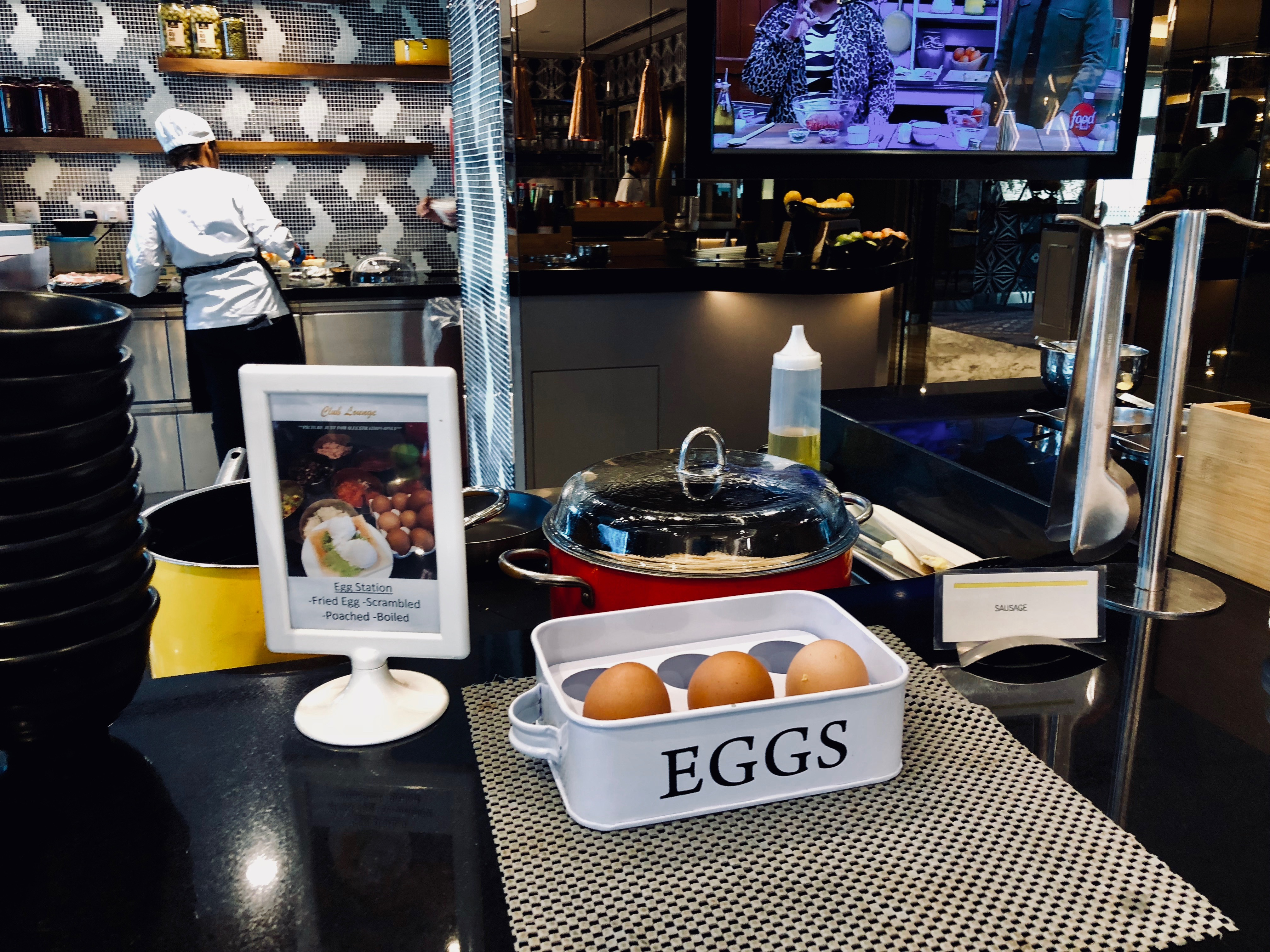 Le Meridien Kuala Lumpur Club Lounge Frühstück