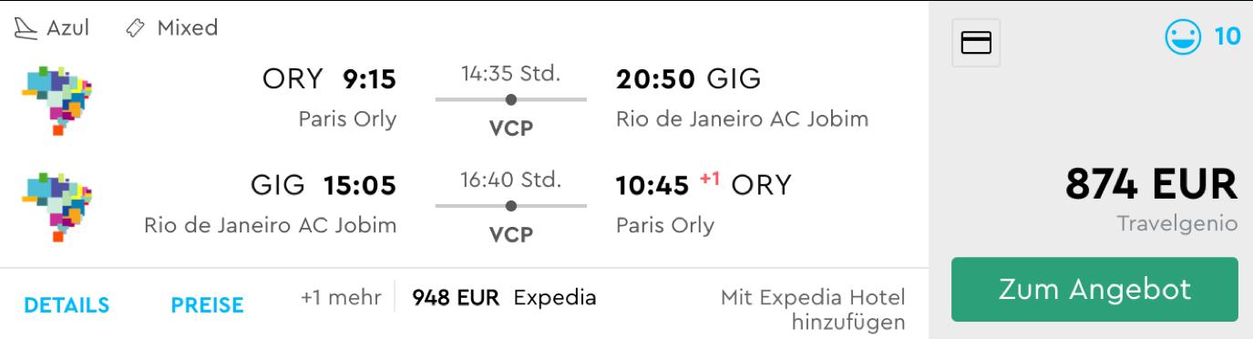 Günstige Business Class Flüge nach Brasilien
