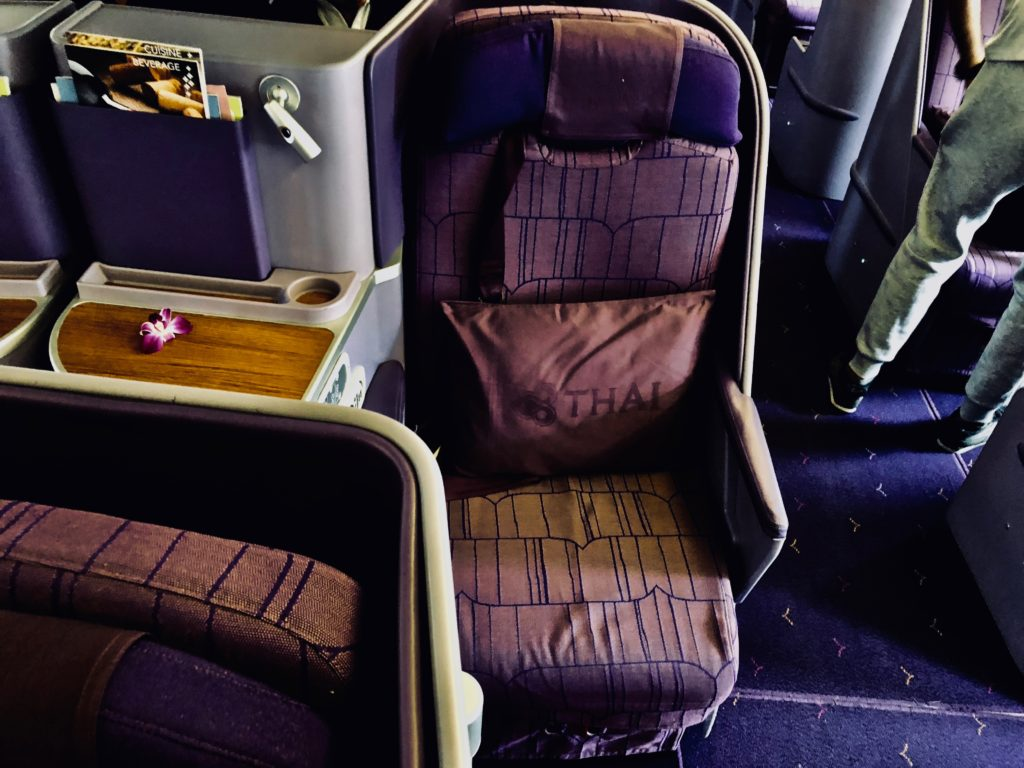 Thai Airways Business Class Boeing 777 Sitz