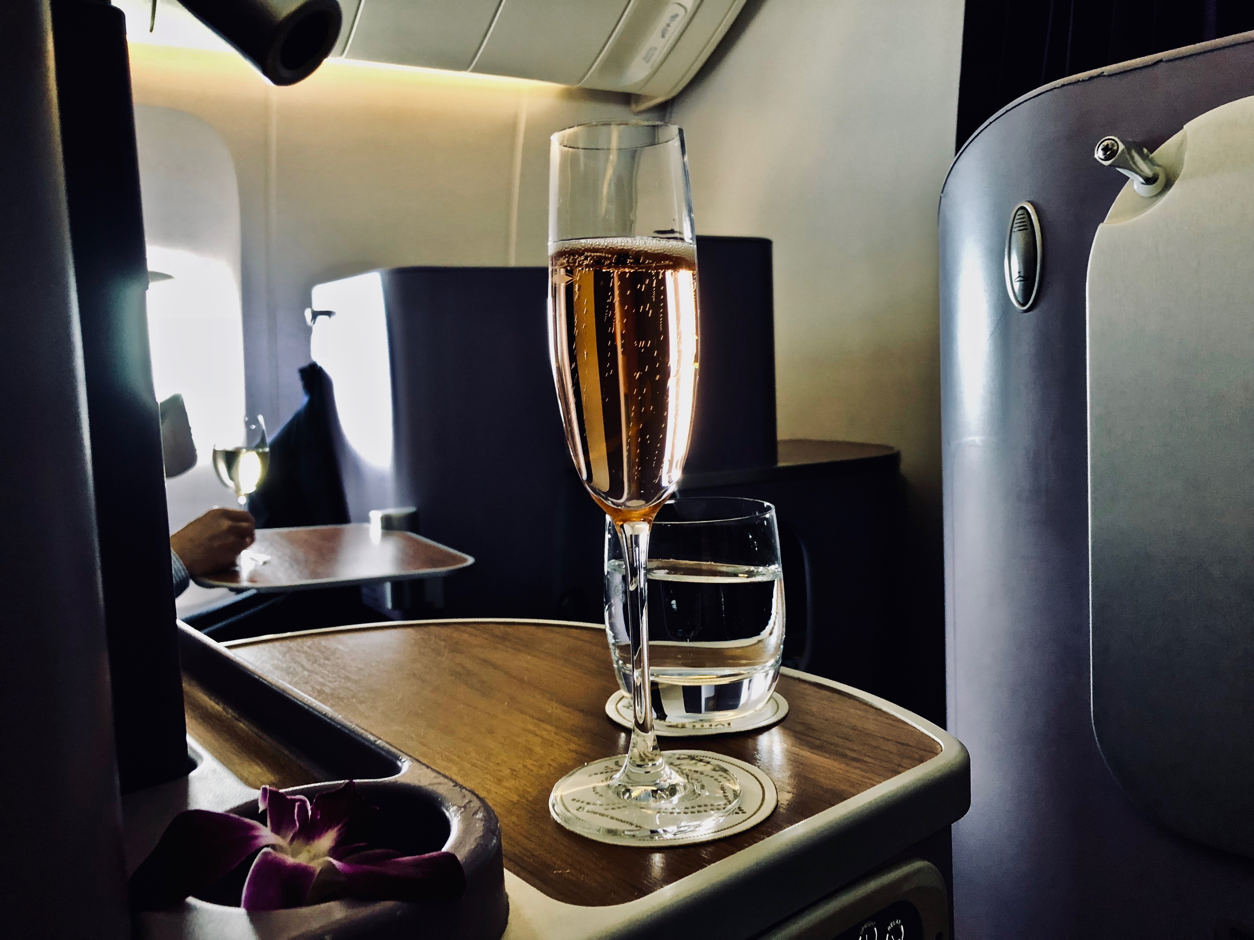 Thai Airways Business Class Boeing 777 Aperitif