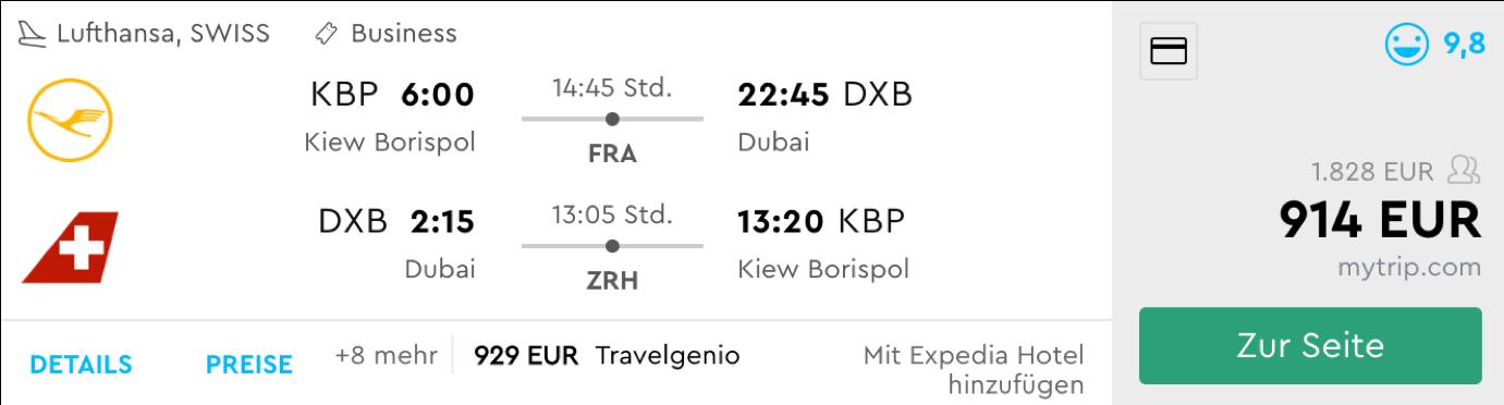 Günstige Business Class Flüge nach Asien