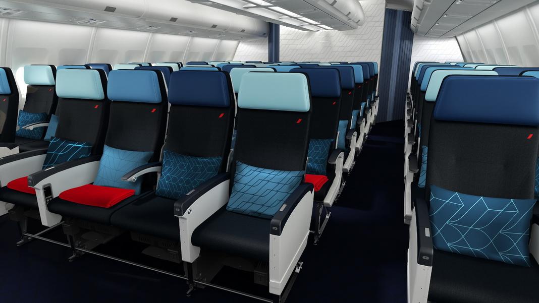 Neue Air France A330 Economy