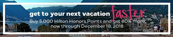 Hilton Honors Punkte kaufen