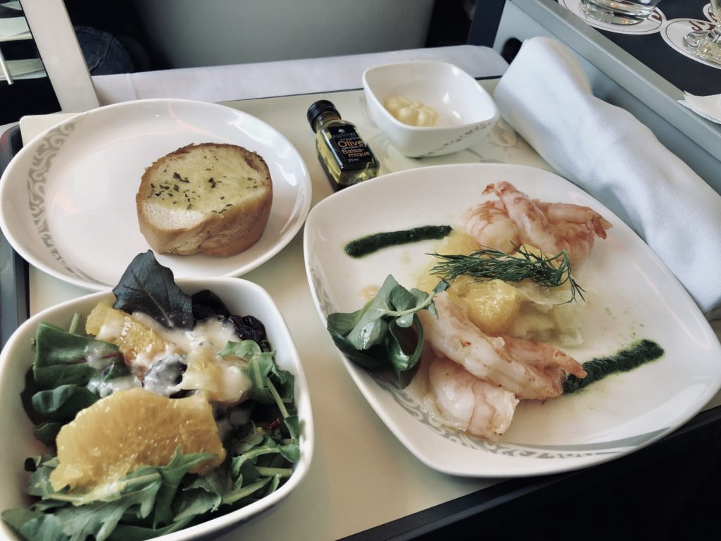 Air China Business Class Review Boeing 777 Lunch