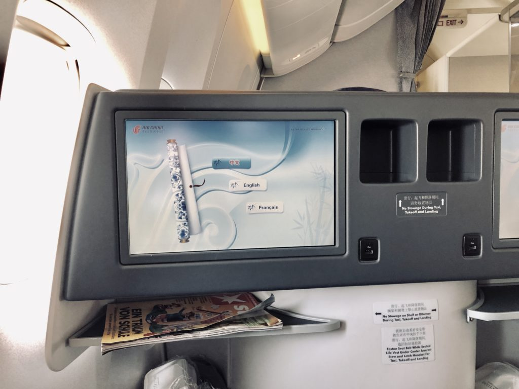 Air China Business Class Review Boeing 777 Sitz
