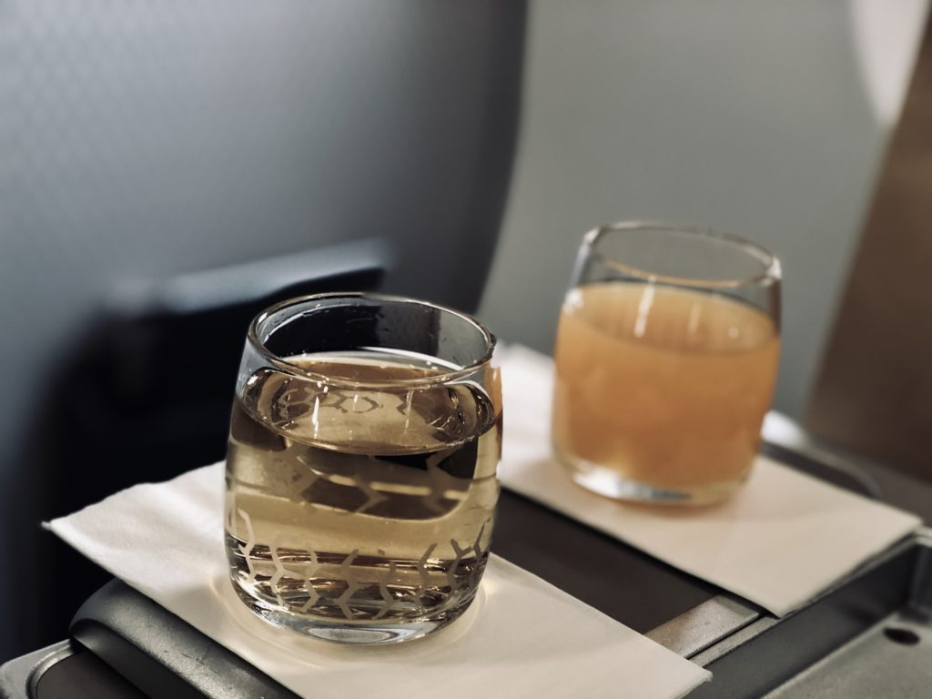 Malindo Air Business Class Welcome Drink