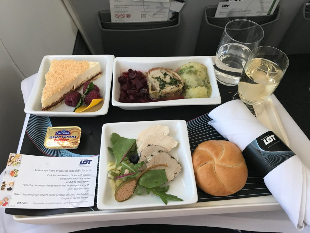 LOT Business Class Catering