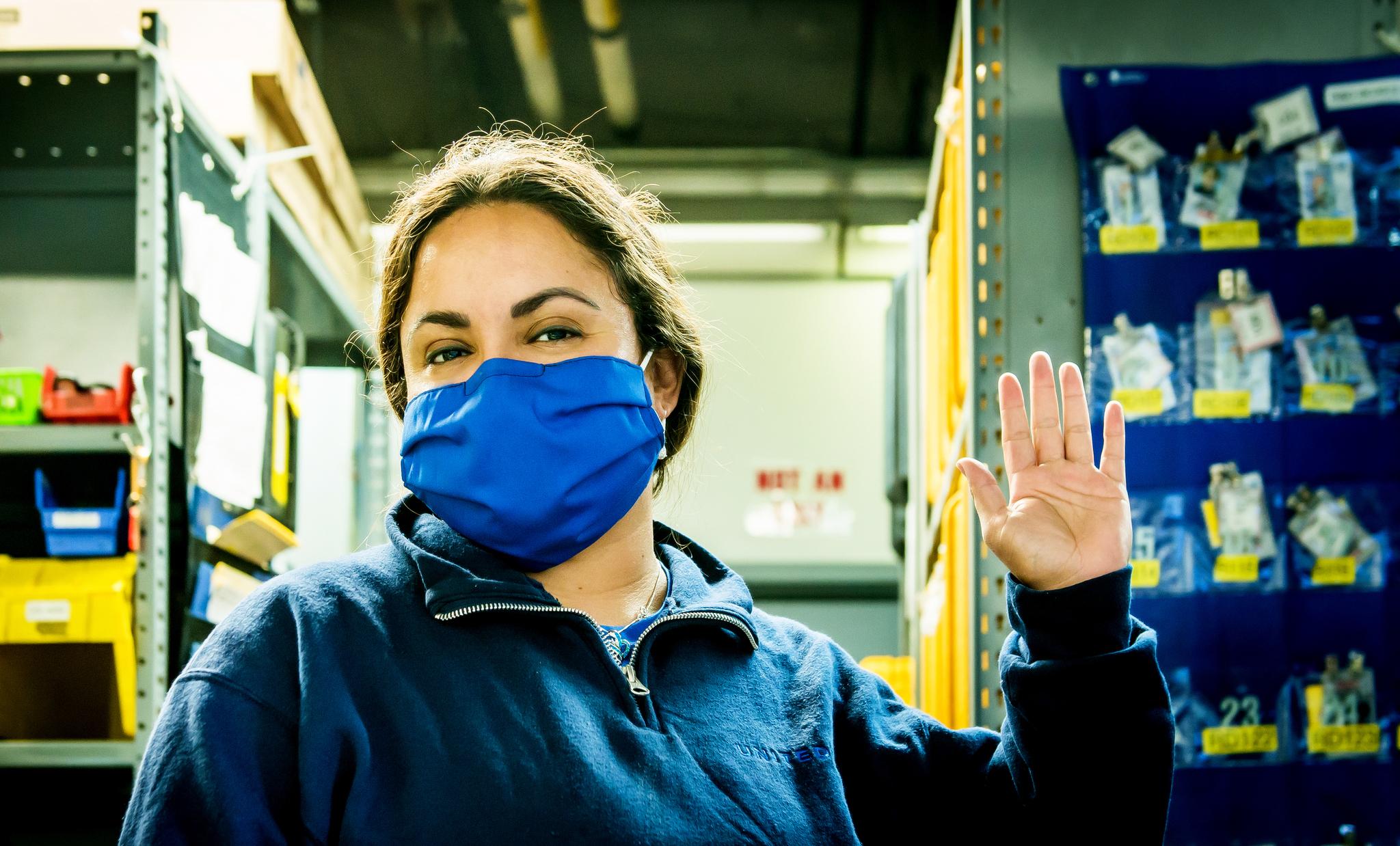 United Airlines Masken