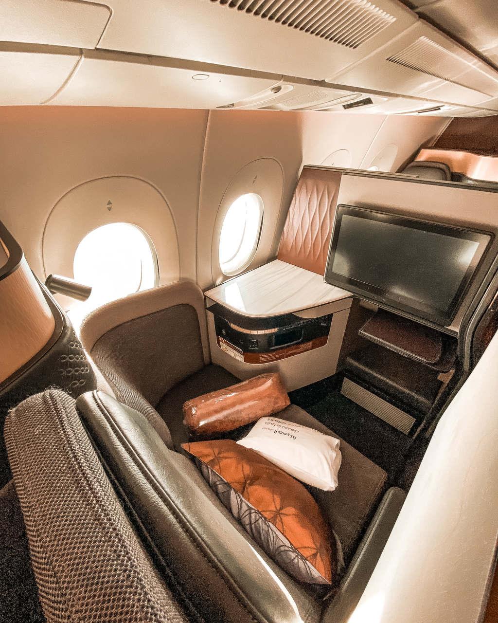 Qatar Airways QSuite mit der Amex Platinum fliegen